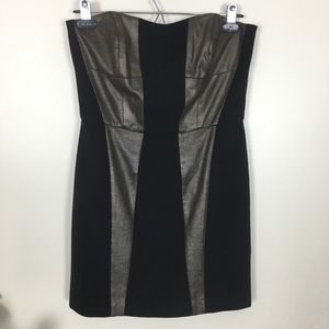FRENCH CONNECTION mini black and bronze dress